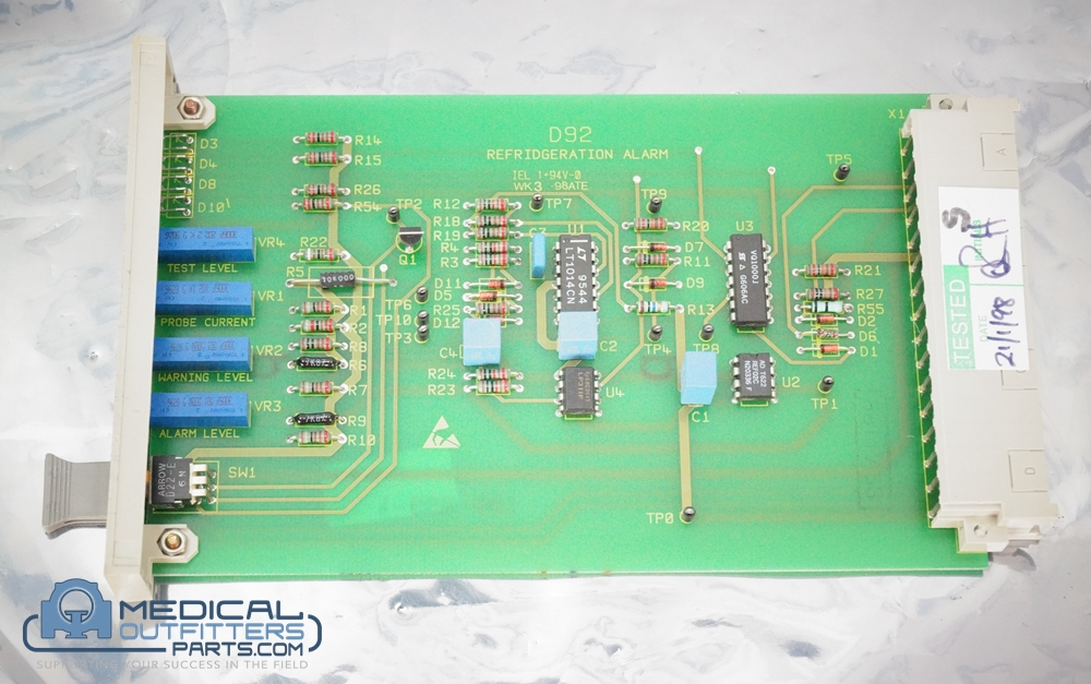 Philips MRI Polaris Refridgeration Alarm D92 Board, PN 600-899T