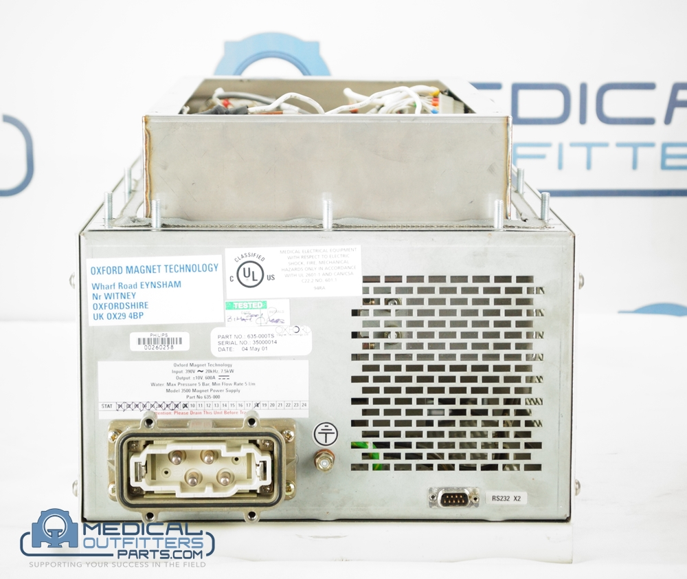 Philips MRI Infinion Magnet Power Supply - Model 3500, PN 453566446321, 635-000TS