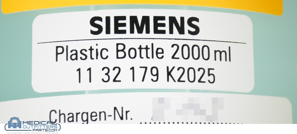 Siemens MRI Phantom Mamma Plastic Bottle 2000Ml, PN 1132179