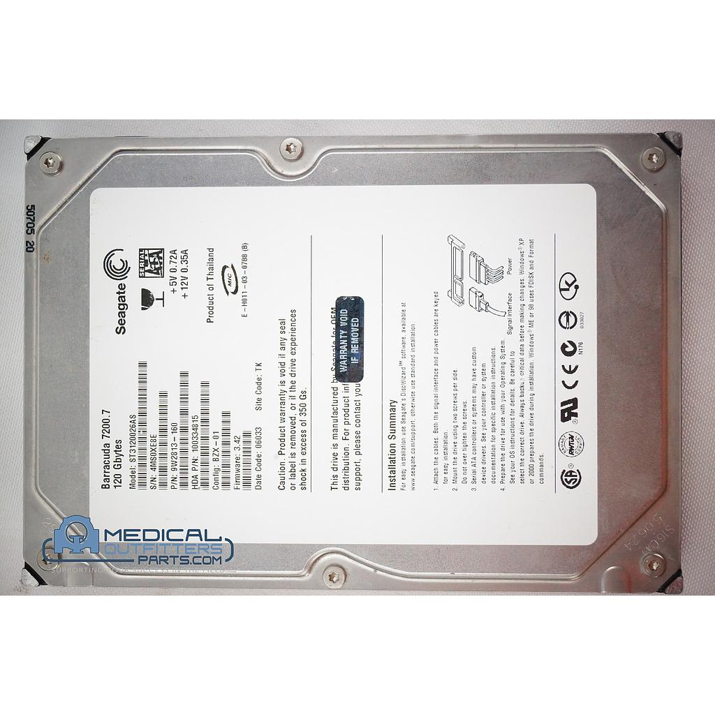 Seagate Internal Barracuda 120 GB SATA, 7200  Hard Drive, ST3120026AS