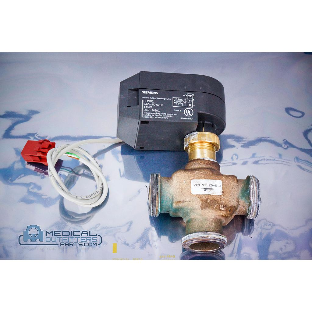 Siemens CT Somatom Cooling System W-W 3 Way Valve with Adjusment Drive, PN 4820986, 4820960