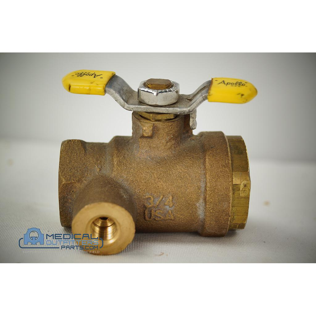 Philips MRI 1.5T Non-Magnetic Yellow Ball Valve, PN 45221502346