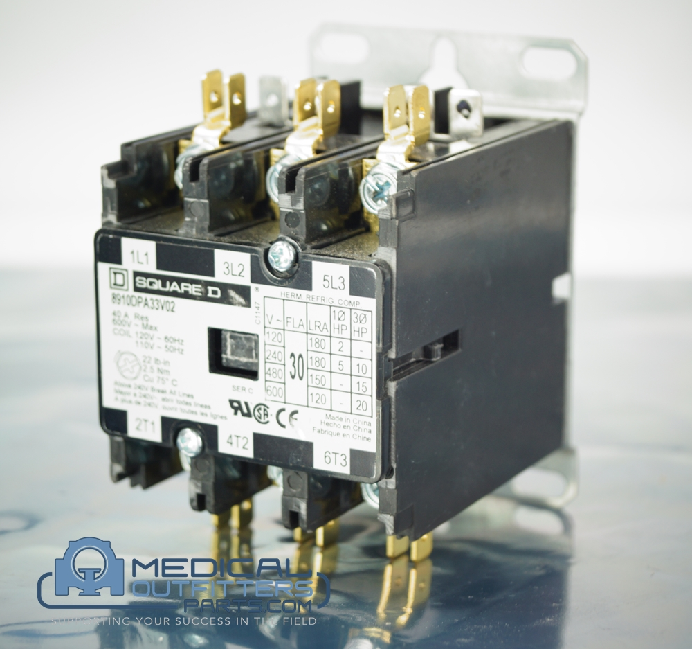 Square D Contactor, 3 Phase, 3 Pole, 40A, 120VAC, 60Hz, PN square 8910DPA33V02